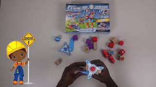 Wooden Building Blocks Toys for Children. Toddlers Kids - STEM. Build a long educational video
