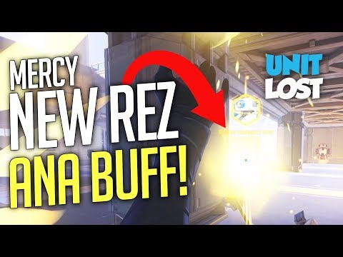 Overwatch News - NEW MERCY REZ! Ana BUFFED!! Outlaw and Spitfire Skins!