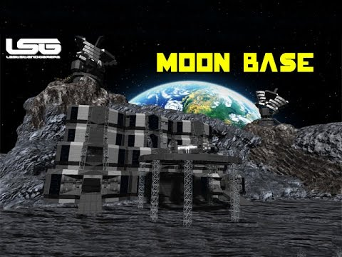 Space Engineers - Massive Moon Base, Construction