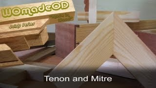 Mitre Joint with Tenon Reinforcement - The Tenon and Mitre