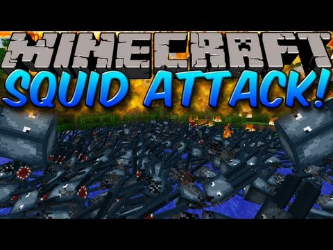 Minecraft Mods: SQUID ATTACK MOD! RUN FOR YOUR LIFE!! (1.6.2)