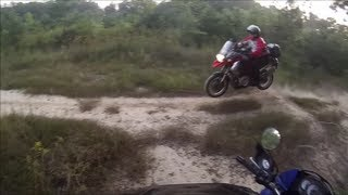 R1200GS, KLR650 Off Road (Abandoned MX Track)