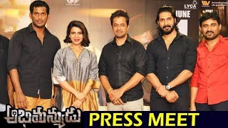 Abhimanyudu movie Press Meet | Abhimanyudu Team Interacting with Media | Abhimanyudu Movie