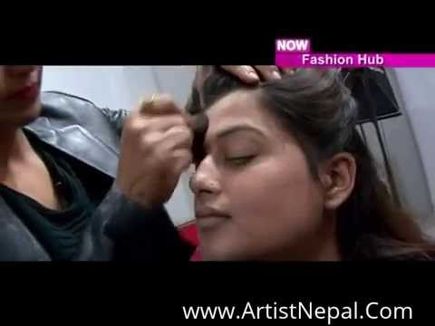 Model actress Shilpa Pokharel Doing Makeup For Photoshoot video