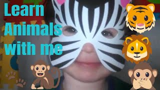 Guess the animal  |  Learn zoo animals names for kids | Educational video for children with Seb