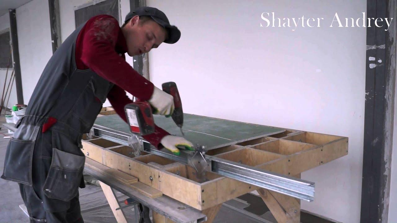 Стол из гипсокартона: как его сделать своими руками, фото и видео 84