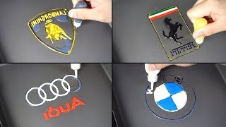 Car Logo Pancake Art - Lamborghini, Ferrari, Audi, BMW (The World's Most Expensive Pancake)