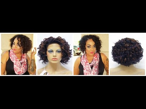 Most Realistic Synthetic Curly Bob Friday Night Hair GLS47