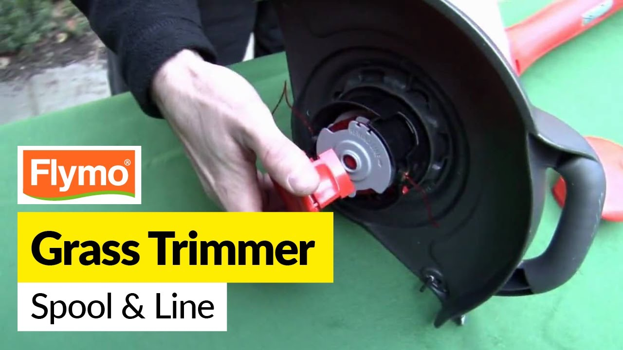 how to replace a flymo spool and line in a flymo strimmer. Black Bedroom Furniture Sets. Home Design Ideas