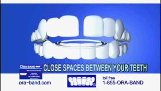 Close your teeth gap without braces. ORA-BAND® Television Commercial.