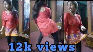 Indian school Girl hot dance at homemade