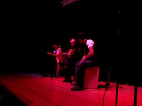 Maria Sandoval, Paco Fernández y Oscar Jareño. Presentación Peña