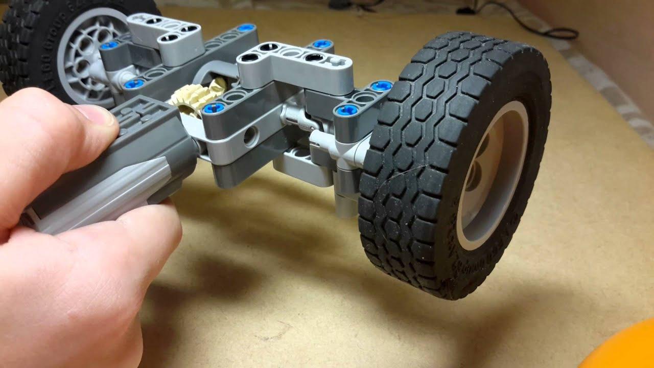 Как сделать поворачивающиеся колеса на машинку6