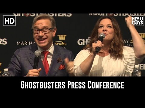 Ghostbusters Press Conference (Melissa McCarthy & Paul Feig)