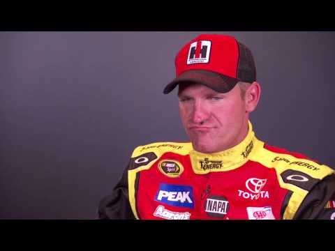 Clint Bowyer joking around during live chat
