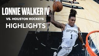 Lonnie Walker IV (19 PTS) Took Over The 4Q Against Houston Rockets To Force OT