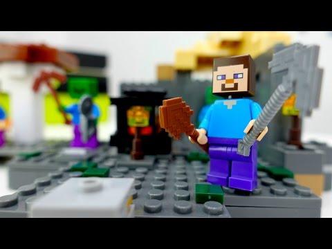 Лего Майнкрафт: обзор новой локации. Мультик с игрушками.
