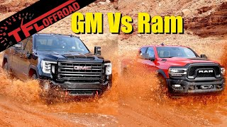 Can the GMC Sierra HD AT4 Dethrone the Ram Power Wagon Off-Road? We Get Them Muddy to Find Out!