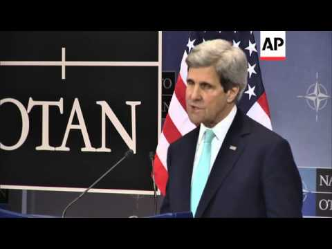 Kerry comments on NATO foreign ministers' meeting on Ukraine