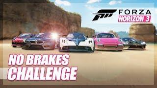 Forza Horizon 3 - No Braking Race! (Tactics & Fails)