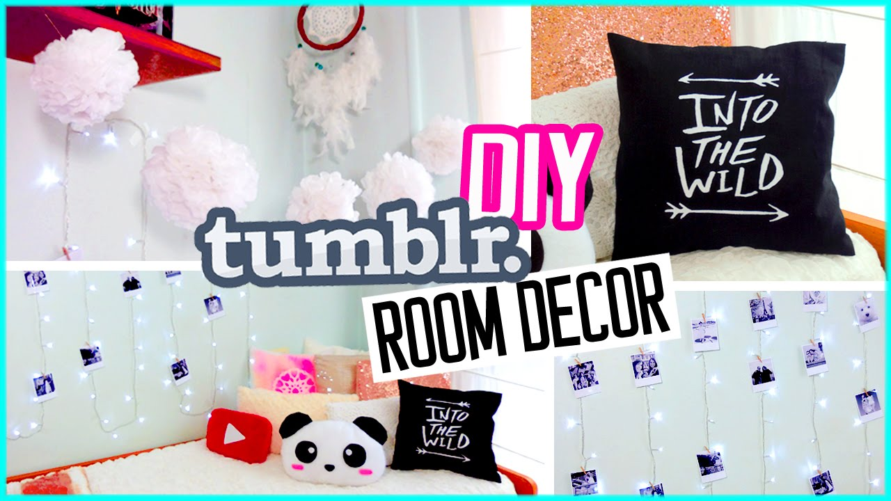 diy room decor for spring tumblr inspired girls rooms pinterest spring wall art and decoration - Bedroom Decor Tumblr