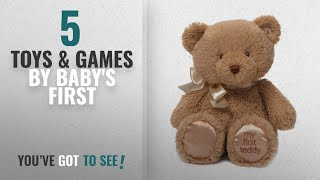 Top 10 Baby's First Toys & Games [2018]: Gund My First Teddy Bear Baby Stuffed Animal, 10 inches