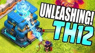 SEE TH12 in ACTION!  Giga Tesla vs MAX QUEEN!!  Clash of Clans Update Sneak Peak #2