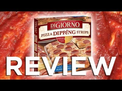 DiGiorno Pizza Dipping Strips Pepperoni Pizza Video Review: Freezerburns (Ep504)