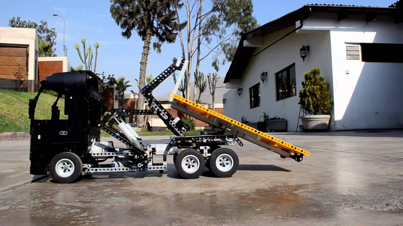 Lego Ampliroll Hook Lift Truck Youtube