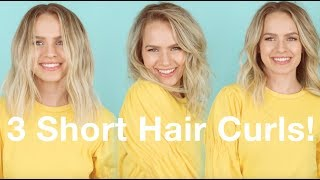 3 Ways to Curl Short & Lob Hair! - KayleyMelissa