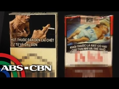 Graphic health warning on cigarette packs