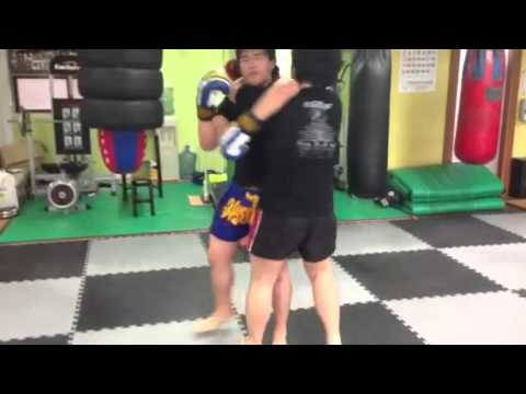 Muay Thai clinch training Image 1