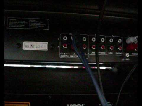 How to set up DJ Gear. Connect CD Player to Mixer to Amplifier to Speakers
