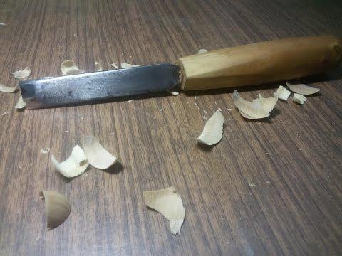 Резец по дереву Стамеска из напильника своими руками Резьба Wood carving