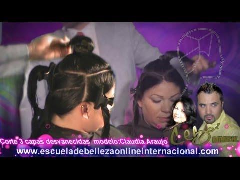Corte de cabello para mujer tres capas desvanecidas texturizadas