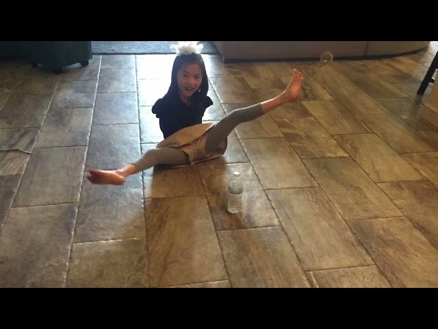 Incredible Armless Girl Nails Water Bottle Flip Challenge