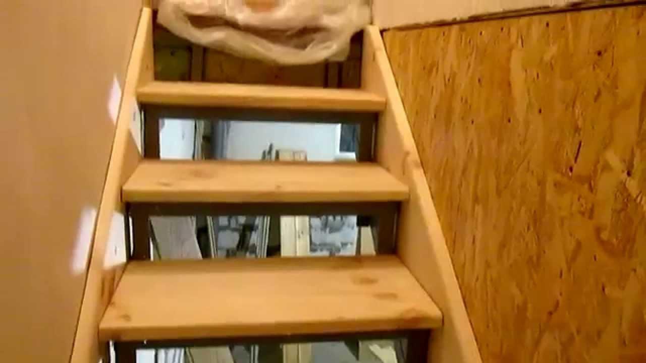 Как сделать лестницу на второй этаж в гараже своими руками из дерева 44