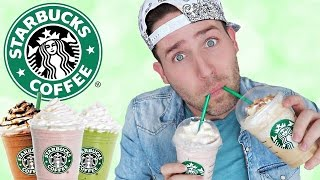 TASTING THE NEWEST STARBUCKS FRAPPUCCINOS!