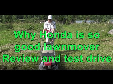 Why Honda is so good lawnmower. Review and test drive. Honda HR 216