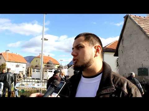 Mirna šetnja Podrške Naseru Oriću  U Bugojnu video
