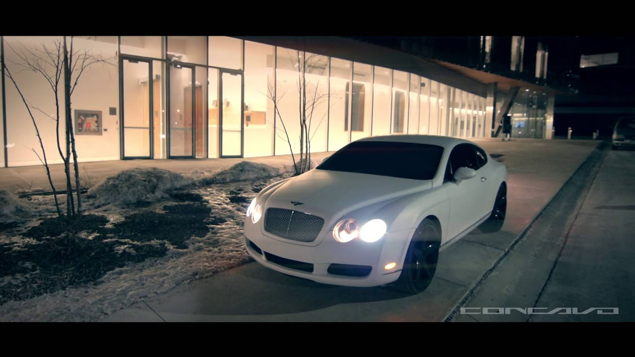 Matte White Bentley Continental Gt On Concavo Cw 5 Deep