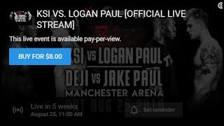 Why Requiring Money To Watch The Logan/KSI Fight is Stupid