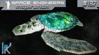 Space Engineers Inspiration - E197: F-51 Thunderbolt, RSN Assault Cruiser, & Iridescent Sea Turtle