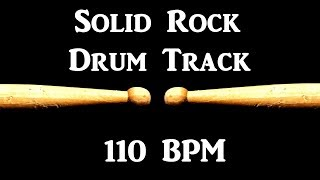 Rock Solid Drum Track 110 BPM Bass Guitar Backing Beat Drums Only #294