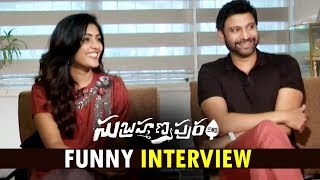 Sumanth and Eesha Rebba Funny Interview about Subrahmanyapuram Movie | Sumanth ,Eesha Rebba
