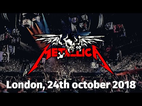 METALLICA live in London 24/10/2017 (PART 1)