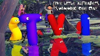 Five Little Alphabets Swimming One Day