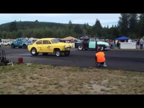GETTMAN'S HENRY J VS. 51' CHEVY PICKUP BILLETPROOF ERUPTION DRAGS TOUTLE, WA 2013