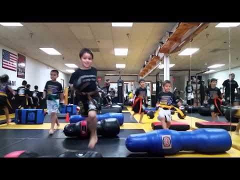 Kids Kick Boxing warm up