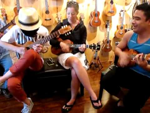 Canon in d - Sungha Jung, Brittni Paiva, Kalei Gamiao Ukulele Jam video